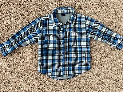 Baby Gap Blue Boy Shirt Size 2T In Good Condition!