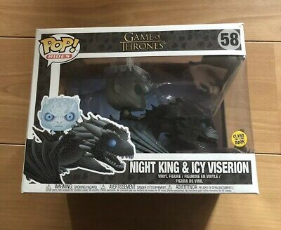Game Of Thrones Night King And Icy Viserion #58 Glow In The Dark Funko Pop!