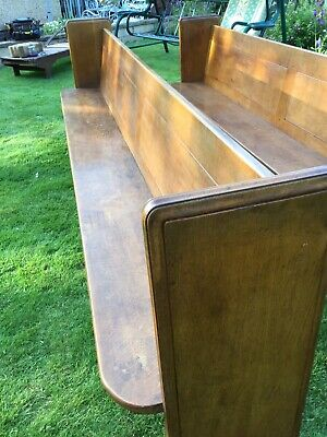 English Oak Church Pew Golden Oak