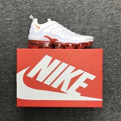 Nike Air Vapormax Plus Men's White and red running shoes - Free shipping