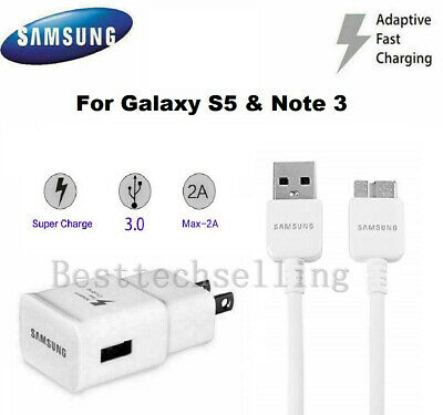 OEM Original Samsung Galaxy Note3 S5  Adaptive Fast Rapid Charger USB 3.0 Cable
