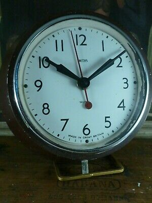 "INDUSTRIAL vintage 1930's SMITHS SECTRIC bakelite 8"" electric WALL CLOCK working"