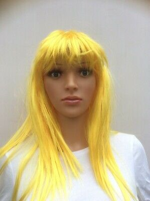 Yellow Artificial Hair Wig For Mannequin New