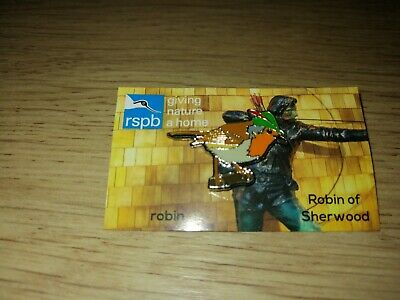 RSPB Sherwood Forest Robin Hood Pin Badge Giving Nature A Home Picture Card