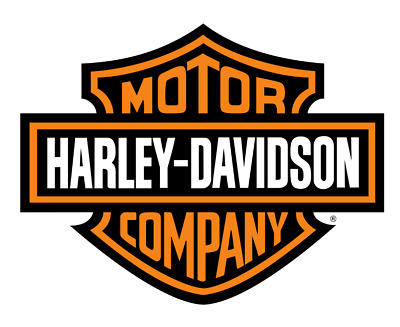 Harley Davidson Orange Bar & Shield Extra Large Trailer Decal Sticker 12""