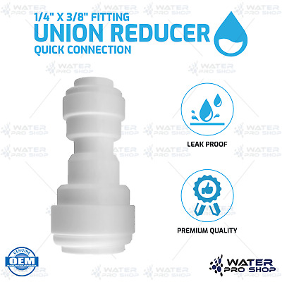 """Union Reducer 1/4"""" x 3/8"""" Fitting Quick Connection for Water Filters RO Systems"""