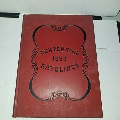 RAVELINGS - 1953 MONMOUTH College Yearbook -Centennial Edition Illinois FreeSHIP