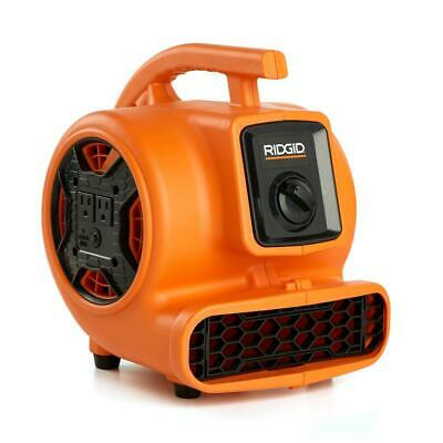 Blower Fan Air Mover 600 CFM with Daisy Chain, 3 Speed 10 ft. Power Cord, Orange