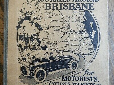 Craigie's Road Guide. With Sectional Maps 100 Miles Around Brisbane.