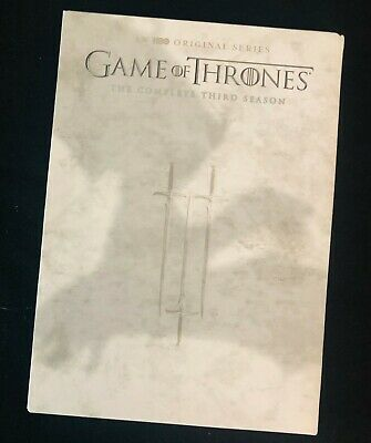 Game Of Thrones The Complete Third Season 5 Disc DVD Set HBO 3