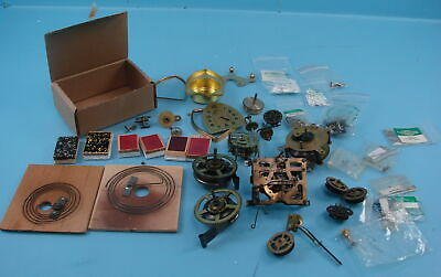 Lot of Black Forest Lux Cuckoo Clock Parts & Movements Bellows Mainsprings Gears