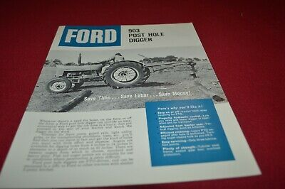 Ford Tractor 903 Post Hole Digger Dealer/'s Brochure LCPA3