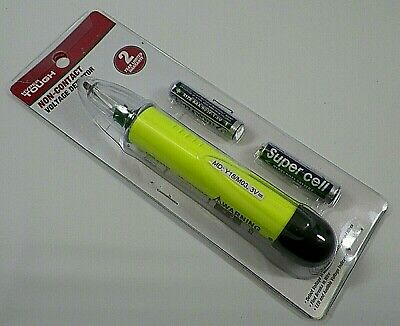 Non-Contact Voltage Dectector Pen LED & Audible with Batteries and Instructions
