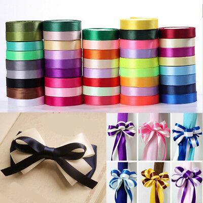 25 Yards/Roll Satin Ribbon Sewing Fabric Gifts Wrapping Wedding Party Decors New