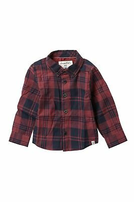 Sovereign Baby Boys Top Red Size 18 Months Plaid-Print Long-Sleeve $38 941