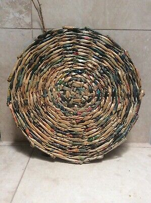 Handwoven Recycled Newspaper Ornamental Tray