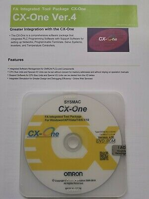 OMRON PLC PROGRAMMING SOFTWARE CX ONE V4 40 WITH KEYCODE