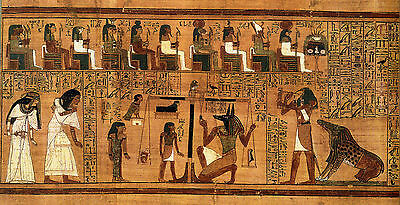 Egypt Egyptian vintage old  Cleopatra  Ancient Art poster PAINTING  Print 100cm