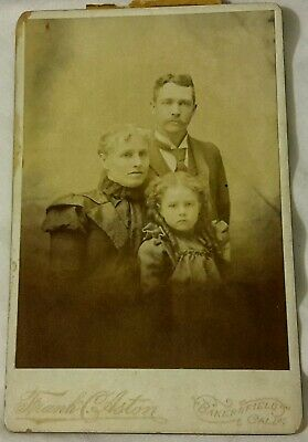 Vintage Cabinet Photo Chancey Lucille Zoe SANDERS Family Man Woman Bakersfield