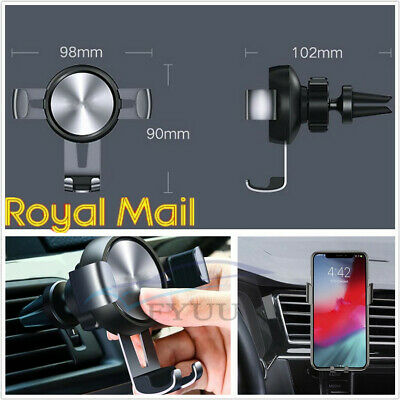 UK Stock 360° Gravity Car Holder Air Vent Mount Stand For iPhone X XS Samsung S8