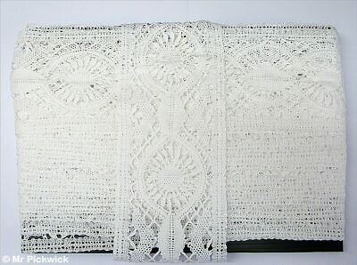 Handmade Edging Lace 7.5 M x 10 cm Straight Edge Insertion Design Vintage