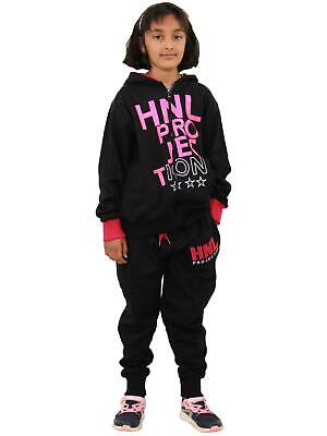Boys Girls Tracksuit HNL Projection Print Pink Hoodie & Botom Jogging Suit 7-13Y
