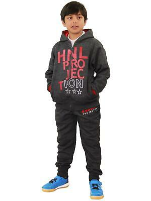 Boys Girls Tracksuit HNL Projection Print Red Hoodie & Botom Jogging Suit 7-13 Y