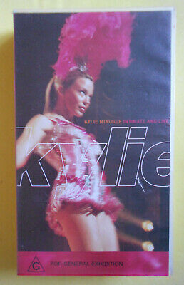 """K7 VHS Kylie MINOGUE- """"Intimate and live""""-1998- """"locomotion"""""""