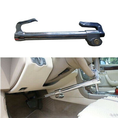 Car Extendable Double Hook Steering Wheel Lock Anti Theft Brake Clutch Stainless