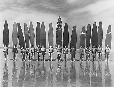 """vintage Surf photo beach surfing boards black white  print for glass frame 36"""""""