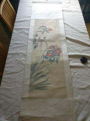 Original Oriental Chinese or Japanese?? Original Wall Art Scroll Picture