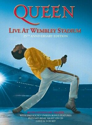 Live At Wembley Stadium 25Th Anniversary Deluxe Edition DVD Queen With Tracking
