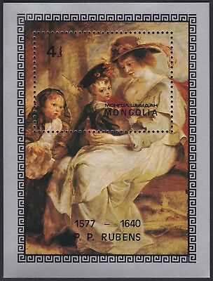MONGOLIE BLOC N°50** Bf  Tableau Rubens, 1977 MONGOLIA 996 Painting MNH