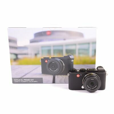 Leica Leitz Cl Prime Kit + 18Mnm F2.8 Elmarit-Tl Asph Black + Box 19304 #1756