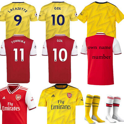 19-20 Soccer Suits Football Kits Kids Adults Jersey Strip Sports Outfit +Socks
