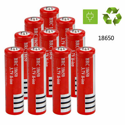 10/6/4/2Pcs 18650 3000mAh Li-ion 3.7V Rechargeable Powerful Battery for Torch