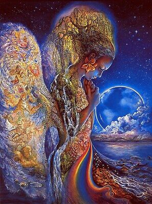 Art print poster / canvas Earth Day Psychedelic Trippy Josephine Wall - Sadness