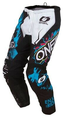 O'Neal Element Youth Pants Villain Kinder Crosshose Enduro weiß schwarz blau