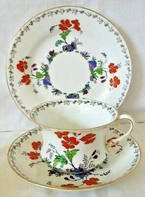 c1930's Tuscan China Enamelled Floral Trio, Plate, Cup & Saucer, R H & S L Plant