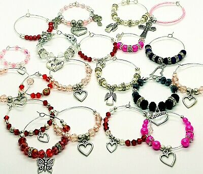 20 Piece Job Lot/Wholesale Set of Assorted Glass Charms/Favours