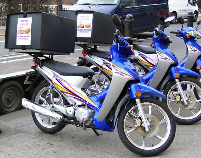 Pizza / Takeaway Food Delivery Box - Motorcycle Or Scooter.