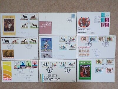 COLLECTION OF 9 BRITISH GB FIRST DAY COVERS FDCs - 1978 - LOT 8