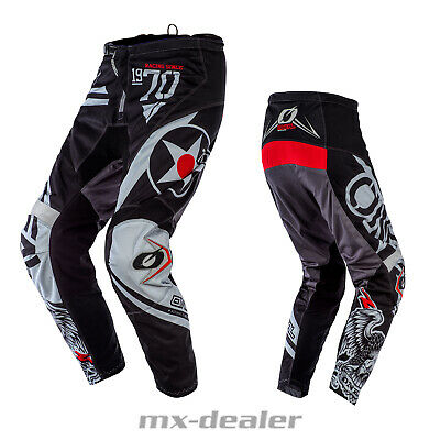 2020 O'Neal Element Warhawk Schwarz Hose  mx motocross Enduro Quad Crosshose BMX
