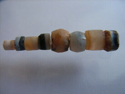 8 Ancient Neolithic Agate Beads, Stone Age, TOP !  RARE !!