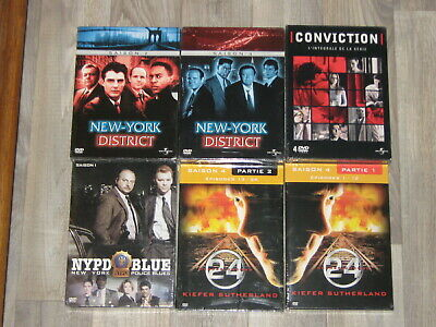 29 Dvd -New York Police Blues-Conviction-New York District- 24 Heures Chrono-
