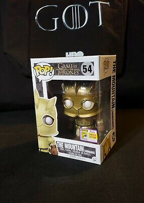 Game of Thrones FUNKO Pop! THE MOUNTAIN (ARMOURED) #52 SDCC Official Exclusive