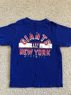 Toddler Boys NY Giants Football T Shirt 3T