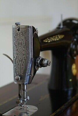 Vintage Singer 201 treadle sewing machine in original cabinet restored&serviced