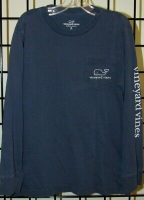 Boy's VINEYARD VINES Blue Whale Long Sleeve T-Shirt size Small 8-10