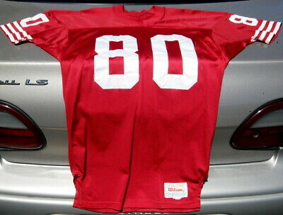newest 43caf d63e0 JERRY RICE AUTHENTIC Wilson 75th anniversary jersey size 42 ...
